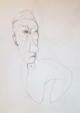 'Cagnolino', penna su carta, 21 x 29 cm., 2005