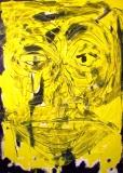 'faccia gialla', acrilico su tela, 40 x 60 cm., 2004