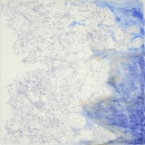 'Samotracia', penna e olio su tela, 100 x 100 cm., 2004
