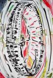'Colosseum', penna e pastelli a cera su carta, 21 x 29 cm., 2005