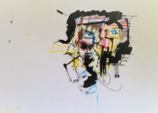 'pseudobasq', mista su carta, 21 x 29 cm., 2003