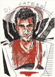 'Ritratto di Mimmo Di Caterino', penna e pastello su carta, 21 x 29 cm., 2006