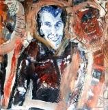 'Idiota', mista su carta, 12 x 12 cm., 2006