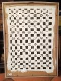 'scacchi simbolici', acrilico pennarello e gesso su cartone, 60 x 80 cm., 2017