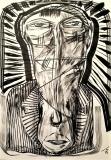 'miner', ink on paper, 29 x 42 cm., 2018