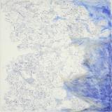 1. 'Samotracia', pen and oil on canvas, 100 x 100 cm., 2004