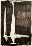 'trasformazione n.1', pennarello su carta, 21 x 29 cm., 2018