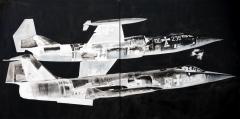 'Virata', acrilico su tele accostate, 200 x 100 cm., 2006