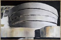 Gugghenheim, acrilico e olio su tela, 120 x 80 cm., 2006