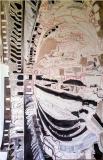 Colosseo interno, olio acrilico e penna su tela, 170 x 110 cm., 2007