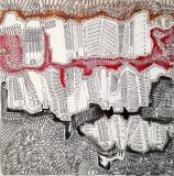 Sliver, pennarello e acrilico su tela, 100 x 100 cm., 2017