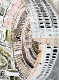 Piccolo Colosseo, acrilico e gesso su tavola, 60 x 80 cm., 2015