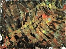 'Ricognizione aerea', mista su tela, 60 x 80 cm., 2007