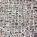 'matrice', mista su tela, 30 x 30 cm., 2013