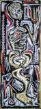 Pseudo, acrilico su cartone, 35 x 120 cm, 2020