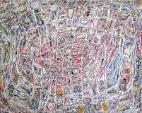 Il giudizio, mista su tavola, 120 x 140 cm, 2020