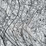 S.t., mista su tavola, 30 x 30 cm, 2019