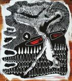 Monster, inchiostro e acrilico su tavola, 30 x 40 cm., 2019