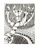 Albero bianco, penna su cartone telato, 22 x 27 cm, 2020