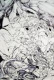 'Sogno infranto', penna su carta, 25 x 38 cm., 2006