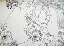 'Senza titolo #22', penna su carta, 21 x 29 cm., 2004