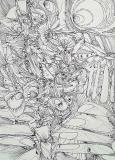 'Senza titolo #23', penna su carta, 21 x 29 cm., 2005