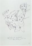 'Surreale bianco', penna su carta, 21 x 29 cm., 2005