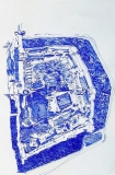 'Windsor (interno)', penna su carta, 21 x 29 cm., 2006