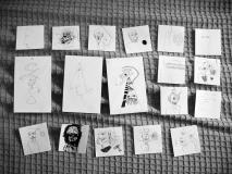 'Compilation', penna su fogli di varia pezzatura, 2006