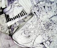 'Illuminare gli angoli', penna su carta, 30 x 20 cm., 2006