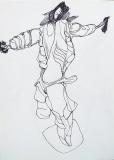 'Crocifissione' (schizzo), penna su carta, 21 x 29 cm., 2005