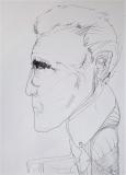 'Rutello', penna su carta, 21 x 29 cm., 2004