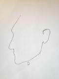 """'""""D""""', penna su carta, 21 x 29 cm., 2005"""