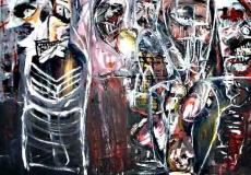 'apocalypse wow', acrilico su tela, 120 x 80 cm., 2003