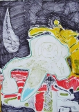'Silenzio', penna e pennarelli su carta, 21 x 29 cm., 2007