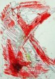 'Croce rossa', mista su carta, 21 x 29 cm., 2005