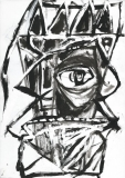 'Totem', china e bianchina su carta, 21 x 29 cm., 2004