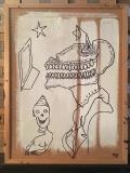 'Recto', gesso e pennarello su sughero, 50 x 64 cm., 2017